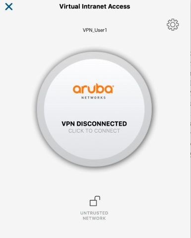 ARUBA-VPN-Disconnected
