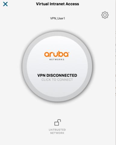 ARUBA-VPN-Disconnected