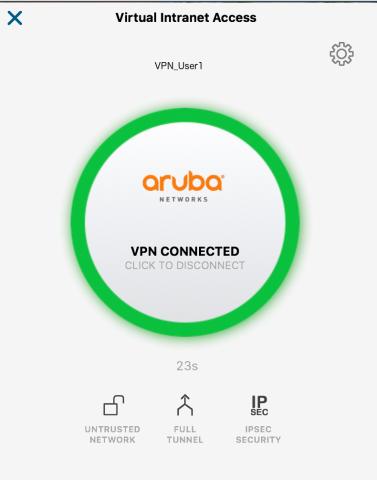 VPN-Aruba Client-Connected
